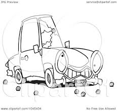 cartoon car black and white royalty free rf clip art illustration of a cartoon black and