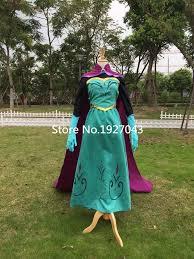 Queen Elsa Halloween Costume Aliexpress Buy Princess Halloween Costume Queen Elsa