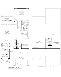 second floor plan of two story country garage apartment plan