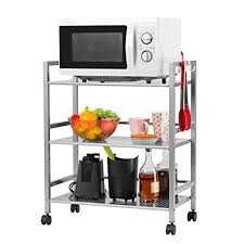 Amazon Com Langria Living Storage by Amazon Com Langria 3 Tier Kitchen Storage Cabinet Cart Island