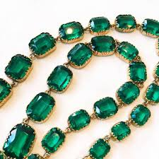green emerald necklace images Georgian green emerald paste rivi re necklace for sale at 1stdibs jpg
