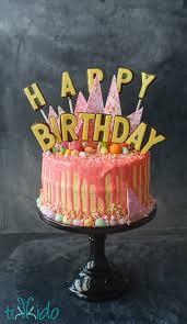 Birthday Cake Toppers Chocolate Lollipop Happy Birthday Cake Topper Tutorial Tikkido Com