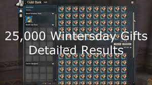 25 000 wintersday gifts detailed results guild wars 2 youtube