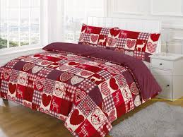 king bed new christmas patchwork duvet quilt cover bedding set
