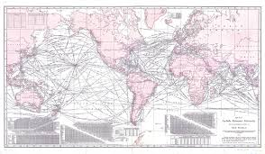 La Salle Campus Map 1914 Map Of Steamship Routes Of The World Showing Tracks For Full