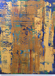 saatchi abstract gold painting by marion wood