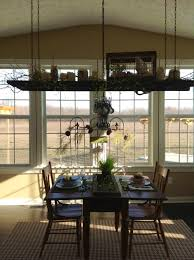 Primitive Dining Room by Spring Ladder Decor Reposed Ladder Chandelier Reclaimed To Fame