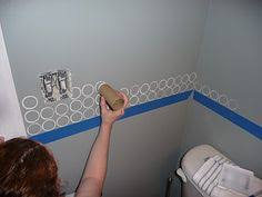 bathroom wallpaper border ideas how to paint circles on a wall any size other great crafts