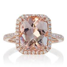 morganite ring gold 14 karat gold 11x9 cushion cut morganite diamond halo