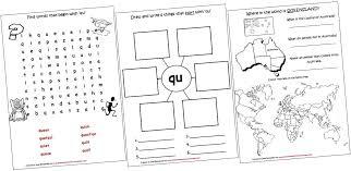digraphs lapbook and worksheets qu iman u0027s home
