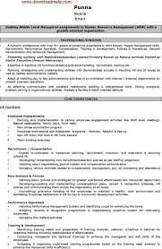 Skills In Hrm Resume Hr Resume Template Download Free U0026 Premium Templates Forms