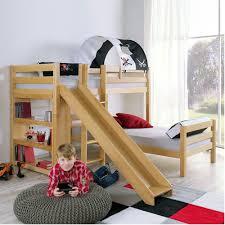 Beech Bunk Beds Kidz Beds Beni L Bunk Bed With Slide Beech Jellybean Ireland