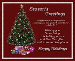 season s greetings to god in the highest and on earth peace