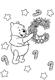 Winnie The Pooh Halloween Coloring Pages Winnie The Pooh Coloring Page With Friends Looking The Stars
