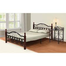 charming queen bed frame with headboard and footboard wood
