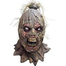 scarecrow halloween costume amazon com scareborn scarecrow mask clothing