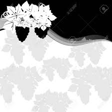 imagen blanco y negro en illustrator uvas en un fondo de fondo abstracto ilustración en blanco y negro