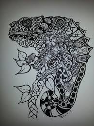 47 best lizard zentangle images on pinterest mosaics art work
