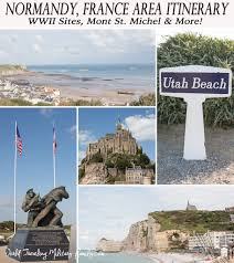 Utah world travel images Normandy france area itinerary wwii sites mont st michel png