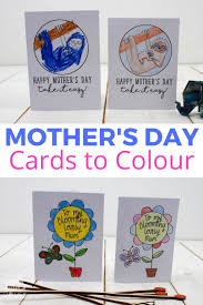 free printable mother u0027s day cards to colour mum in the madhouse
