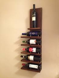 Kitchen Wine Cabinets Adorable Brown Wooden Kitchen Wine Rack With Five Horizontal