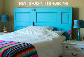 Making A Bed Headboard by Amazing How To Make A Headboard Out Of An Old Door 81 On Bed