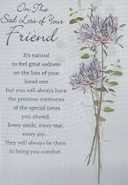 iparty sympathy cards loss of your friend from andersons wholesale