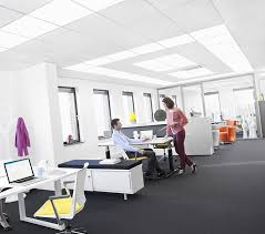 open office lighting design how philips and saint gobain ecophon are changing ceiling lighting