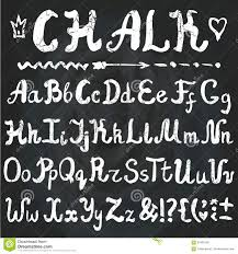 alphabet chalk hand drawn letters chalkboard stock vector image