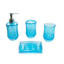 Acrylic Bathroom Accessories by Crystal Acrylic Bathroom Set Turquoise In Egypt For Only 95 Le
