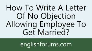 no objection letter for employee how to write a letter of no objection allowing employee to get