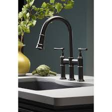 elkay kitchen faucet elkay lkec2037 explore pullout spray handle bridge kitchen