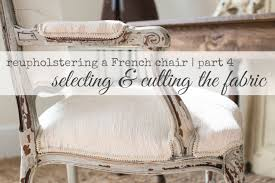 How To Reupholster A Wingback Armchair Reupholstering A French Chair Part 4 Selecting U0026 Cutting The