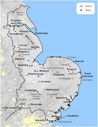 map of east uk eastern climate met office