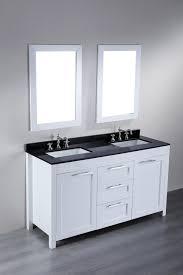 60 Inch Cabinet White Bathroom Cabinet Black Top 6954 Bathroom Vanity Black Marble