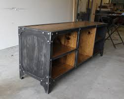 Industrial Modern Furniture by Steel Side Panels On This Industrial Style Media Console Solid