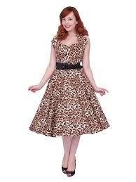 halter neck 1950s halterneck leopard brown dress from vivien of holloway