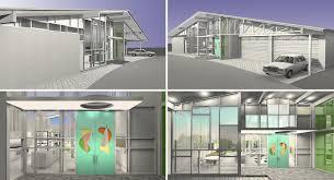 Four Car Garage Mid Century Modern Iii Po Ku Custom Luxury Home Builders