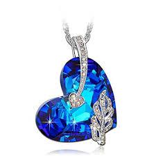 blue crystal necklace images Blue crystal necklaces jpg