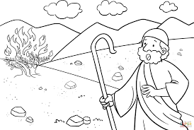 moses and the burning bush coloring pages snapsite me