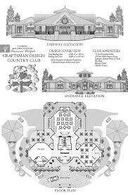 online commercial design concept craftsman style country club w