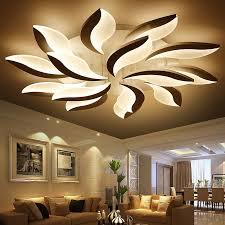 Lights For Bedroom Ceiling New Flower Led Ceiling Lights Living Room Bedroom Lustres Home