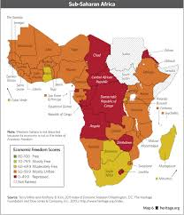 Rwanda Africa Map by Economy The Following Picture Is A Map Depicting Economic Freedom