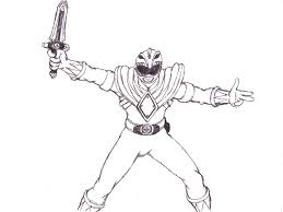 mighty morphin power rangers coloring page power rangers coloring