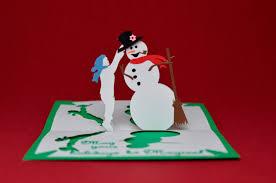 christmas pop up card magical snowman tutorial creative pop up