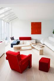 Bright Red Sofa Furniture Cute Red Sofa With Glossy Candy Tone Finishing Fits