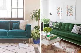 deco canapé inspirations pour un canapé en velours joli place