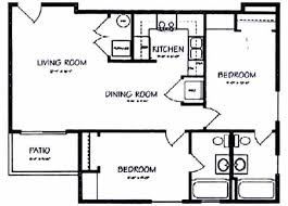 two bedroom two bathroom house plans bedroom 2 bath floor plan home design and decor