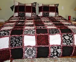 zeedlebeez black and white rag quilts