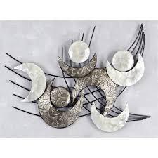 Dekoration Schlafzimmer Brautpaar Design Wanddeko Wandbild Muschel Modern Metall 91x75cm Monde